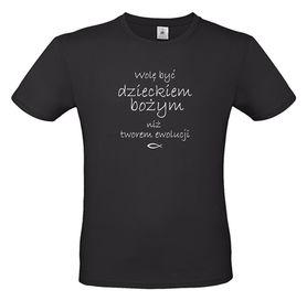 koszulka chrześcijańska z nadrukiem - wolę być dzieckiem bożym