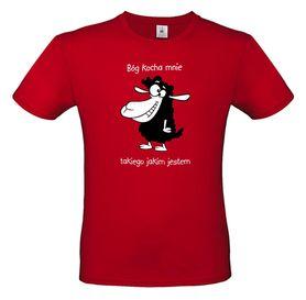 koszulka chrześcijańska z nadrukiem - Bóg kocha mnie, takiego jakim jestem